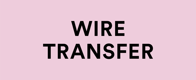 donate via WIRE TRANSFER